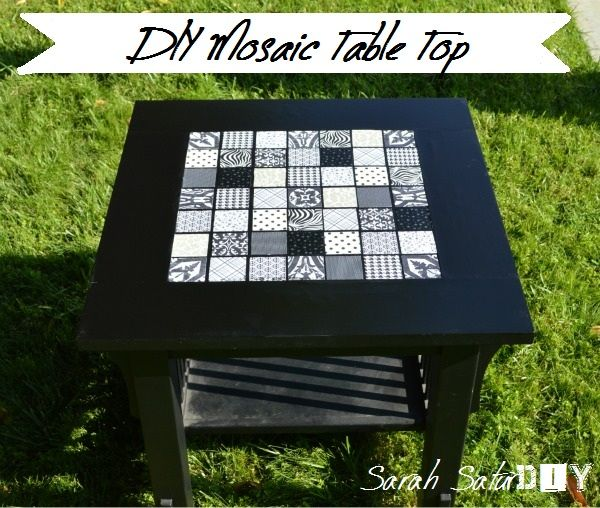 You Can Make A Mosaic Tile Table Without Tiles   Never Thought To Use  Scrapbook Paper