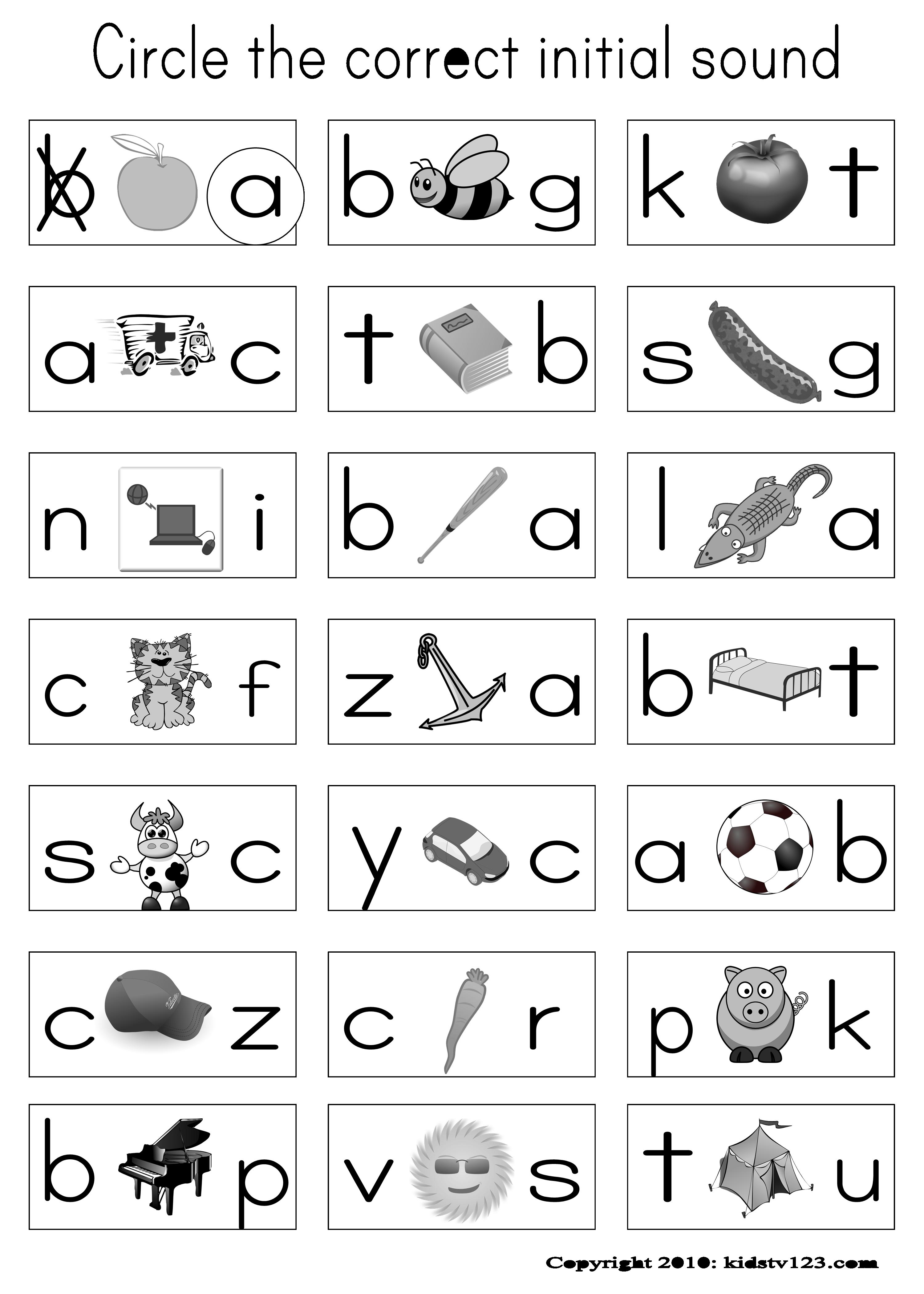 Alphabet Amp Phonics Worksheets
