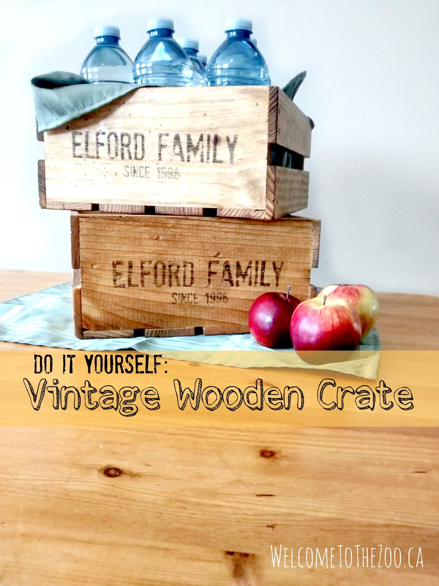 DIY Vintage Wooden Crate - Welcome To The Zoo
