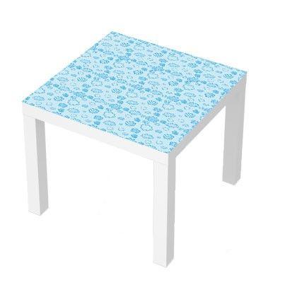 Stickers Pour Table Basse Lack 55x55 Nuages Bleus Meuble Ikea