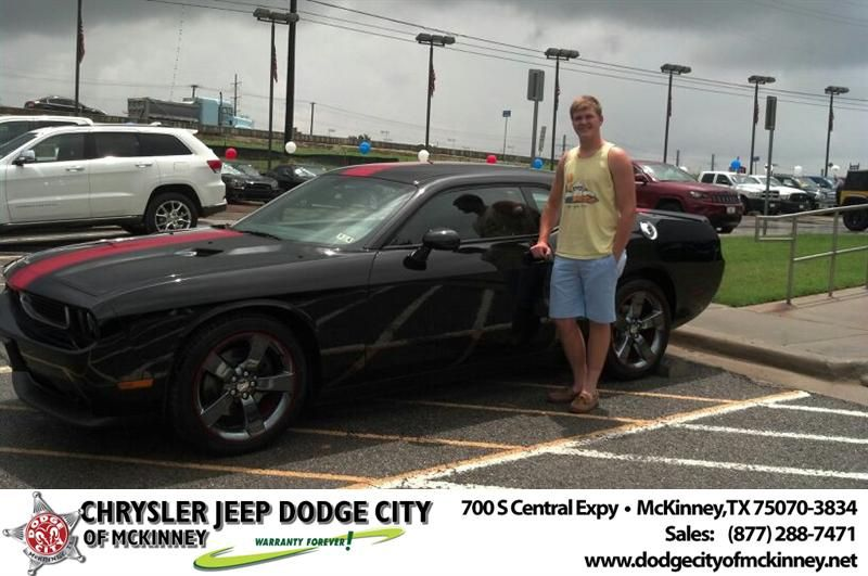 Congratulations To Kyle Collins On Your Dodge Challenger Purchase From Bobby Crosby At Dodge City Of Mckinney Newcarsmell Dodge City New Car Smell Dodge