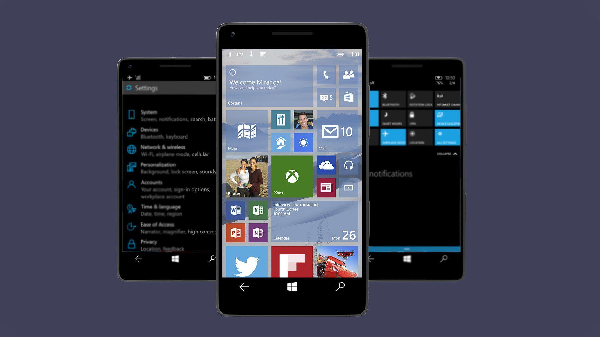 Así luce Windows 10 para smartphones primeras imágenes