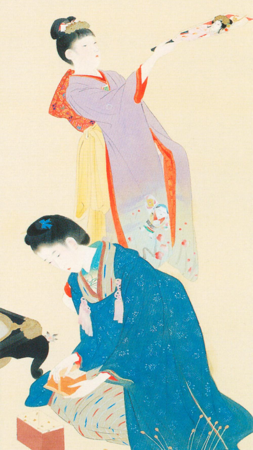 鏑木清方 明治風俗十二ヶ月 一月 Kaburaki Kiyokata Meiji 12