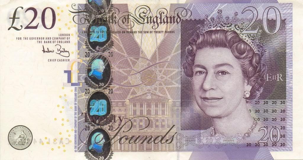 20 Pound Sterling Note Counterfeit Money Detection Know How Geld Geldscheine Scheine