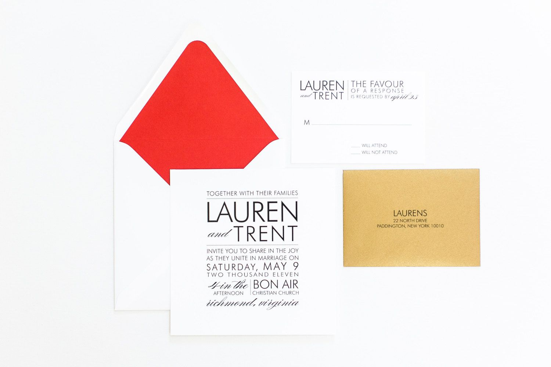 Wedding Invitation Louboutin Inspired Modern by confettigrey | Save ...