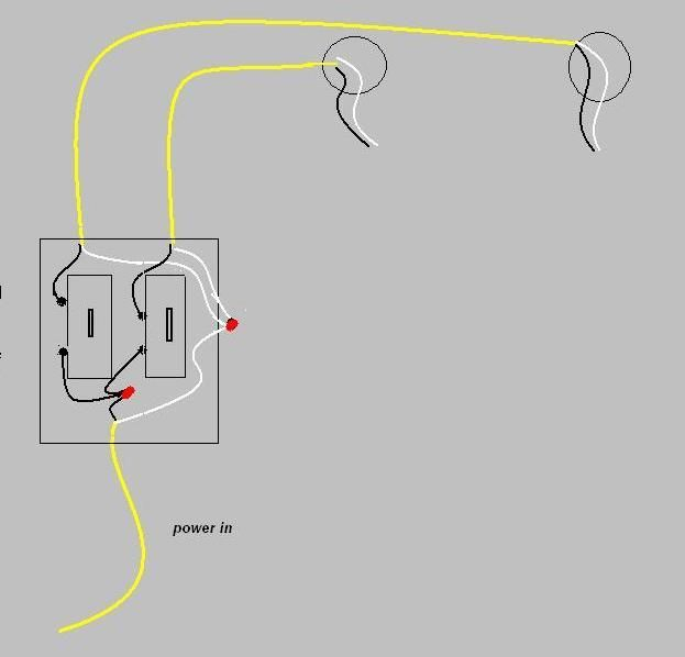 2 way switch connection diagram double pole single throw rocker wiring how to wire two light switches with lights one power supply