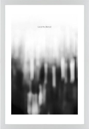 Black and white bokeh framed print white contemporary none white single