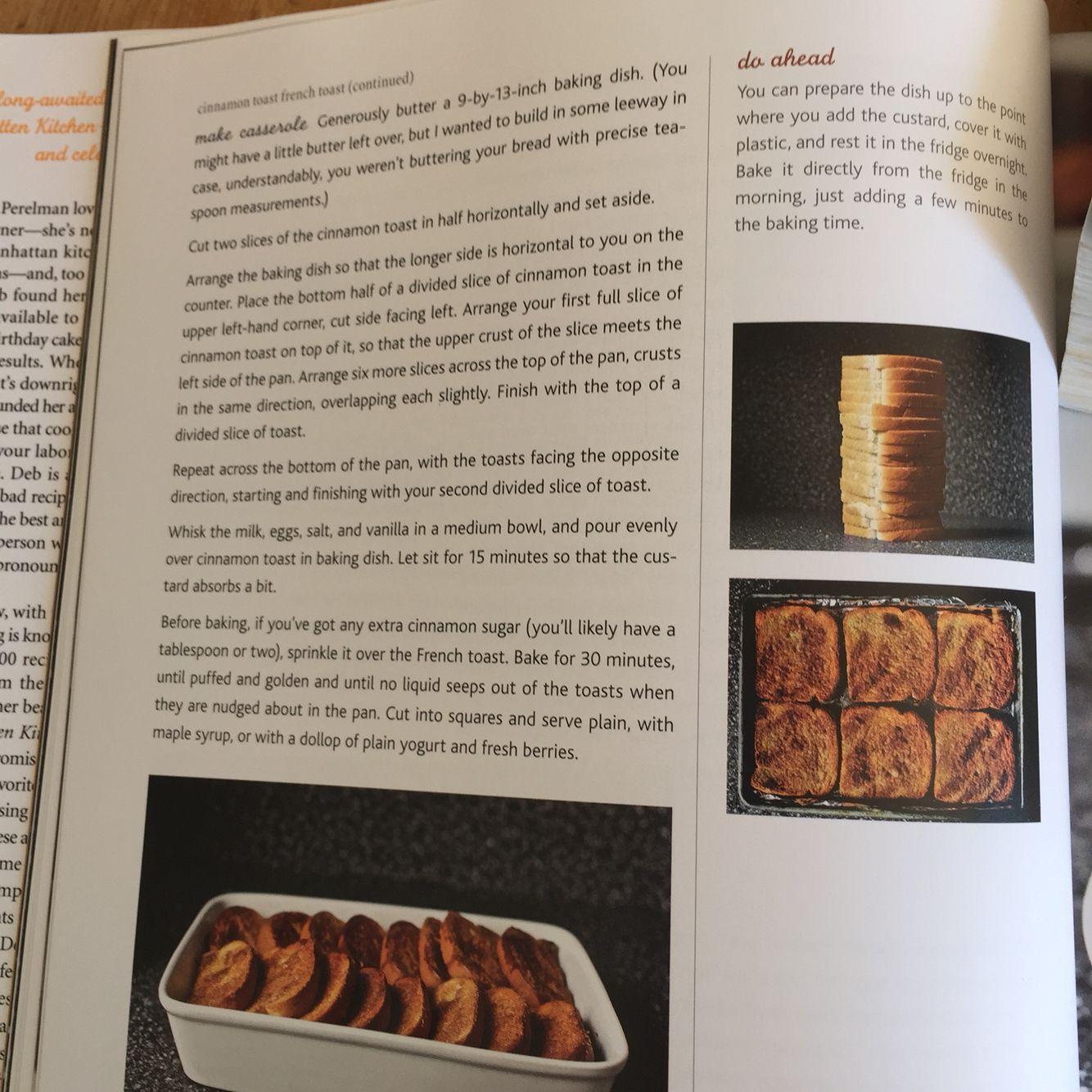Cinnamon Toast French Smitten Kitchen Part 2 Baked Dishes Breakfast Recipes