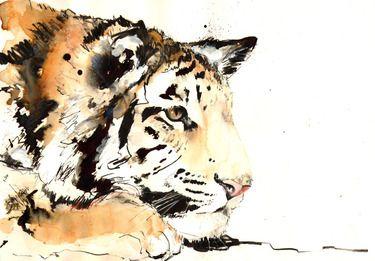 """Saatchi Online Artist Lucy Newton; Unknown, """"tiger"""" #art"""