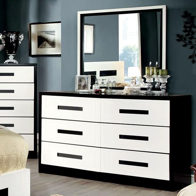 New Elysee 9 Drawer Chest With Mirrored Front Black And White Furniture White Dresser Diy White Furniture