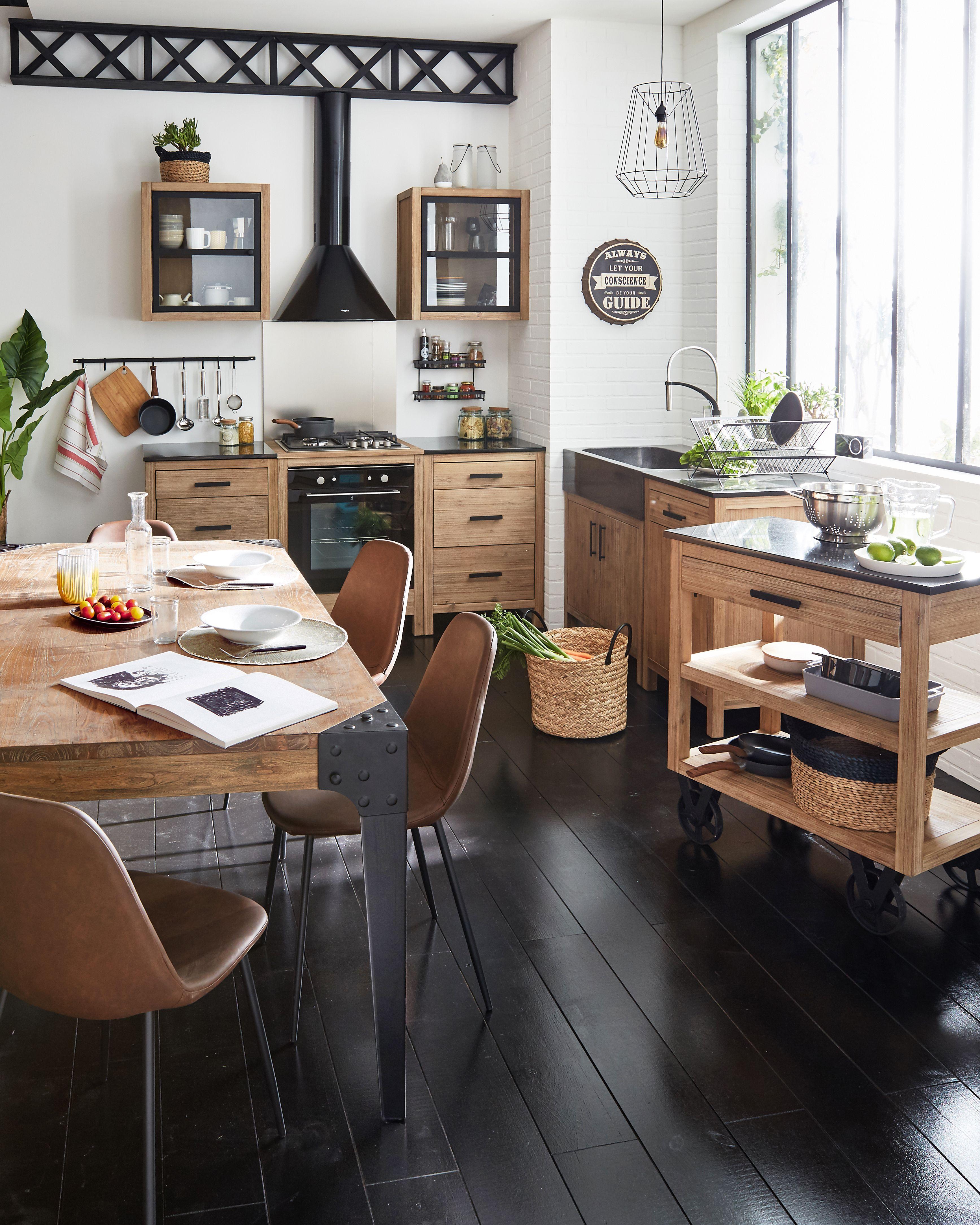 Ambiance Industrielle Alinea Idee Amenagement Cuisine Meuble Deco Salle De Cuisine