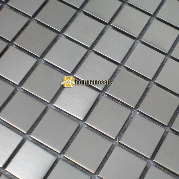 Grau farbe metall mosaik gebürstet fertig edelstahl fliesen für