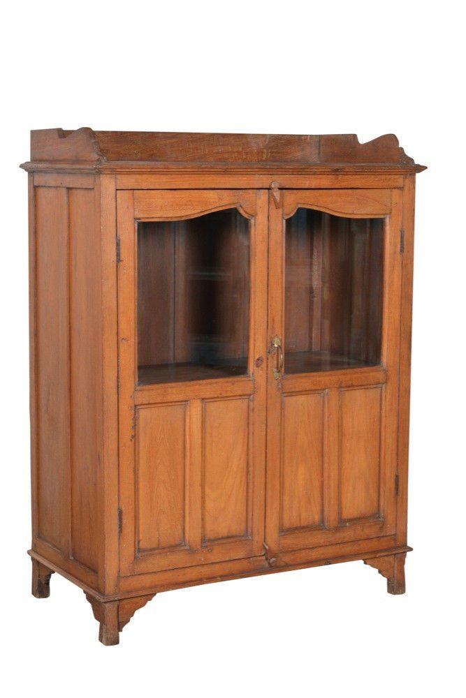 Vitrine Buffett Schrank Regal Bauholz Vintage Indien Altholz ...