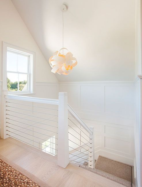 Stair Chandelier | Lake House | Beach House | #interiordesign #homedecor #beachhouse #coastalliving