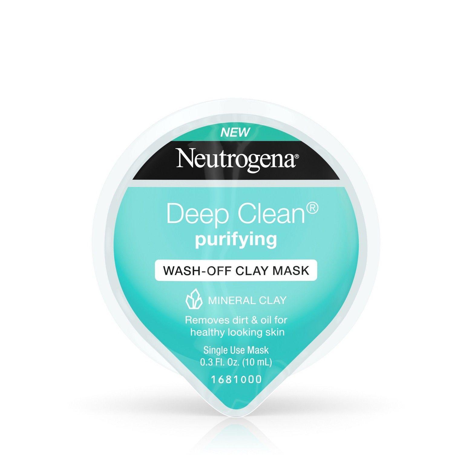 Neutrogena Deep Clean Purifying Wash Off Clay Face Mask 0 3 Fl
