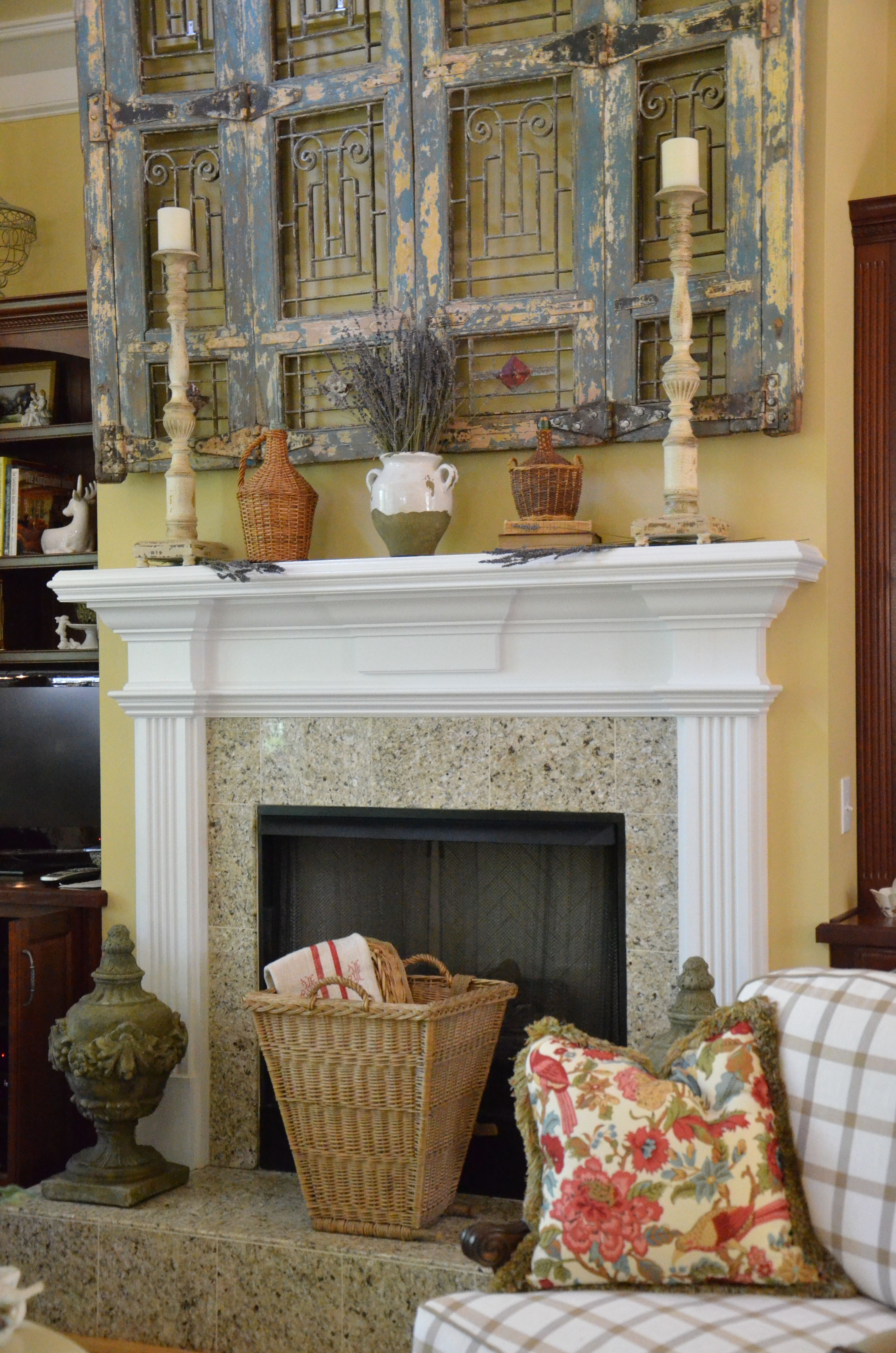 A French Country Mantel Vignette Decorating In 2019