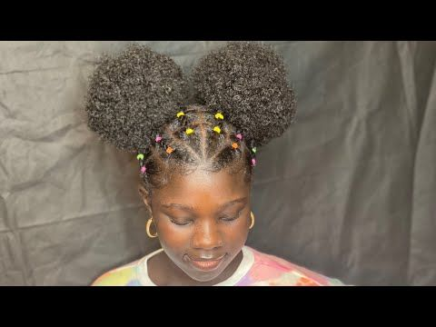 kids braided afro puffs tutorial inspiredciara
