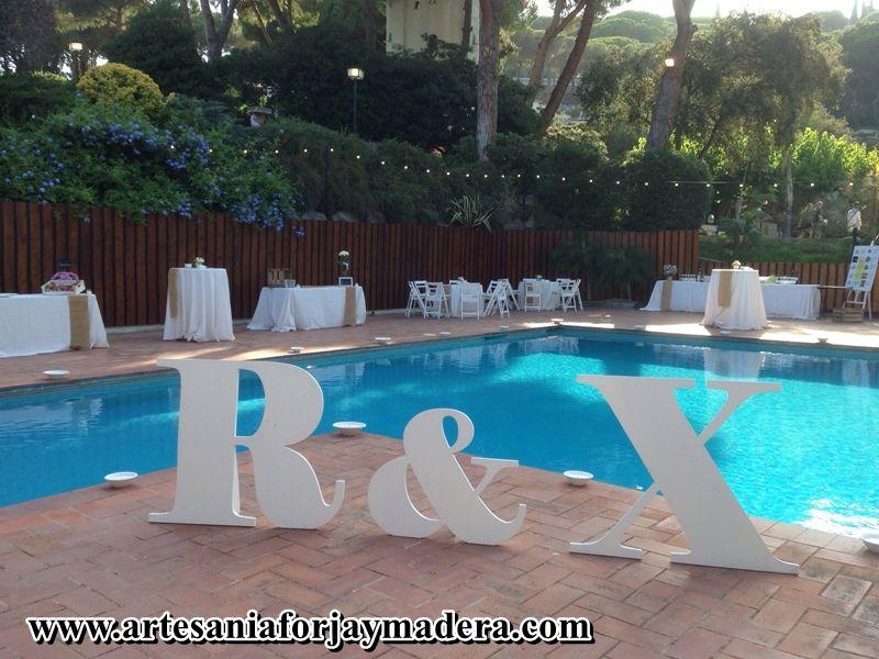 Letras gigantes para bodas noivas decora o pinterest - Adornos para piscinas ...