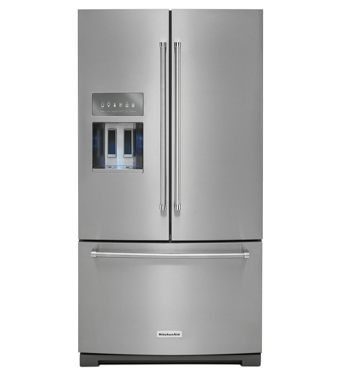 kitchenaid bottom freezer fridge