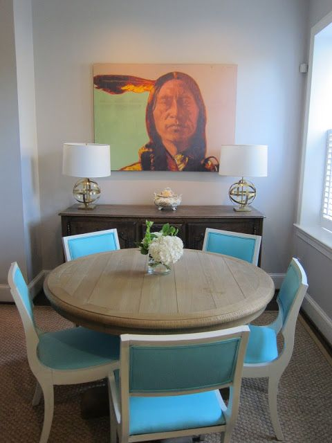 Adger Interiors/ TURQUOISE CHAIRS
