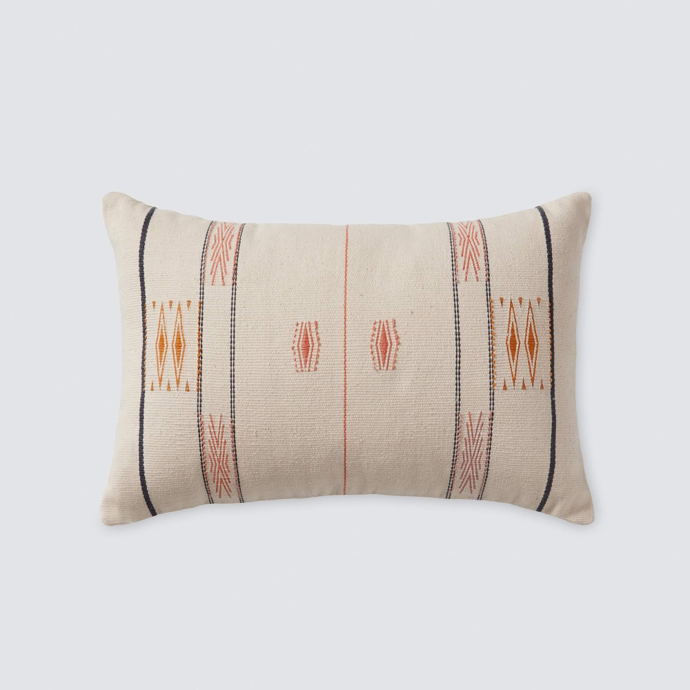 Sumi Blush Lumbar Pillow Modern Design Handcrafted In India The Citizenry Pillows Lumbar Pillow Throw Pillows