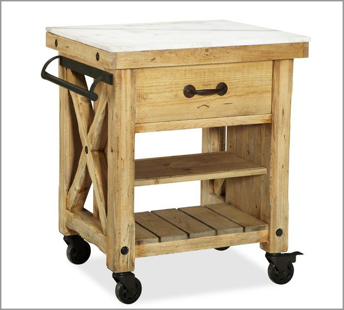 Butcher Block Pottery Barn Diy Projects Marble Top Kitchen