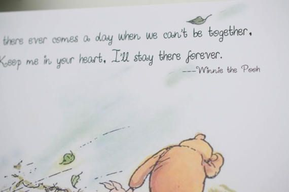 Winnie The Pooh Card Mothers Day Card Classic Quote Keep Me In