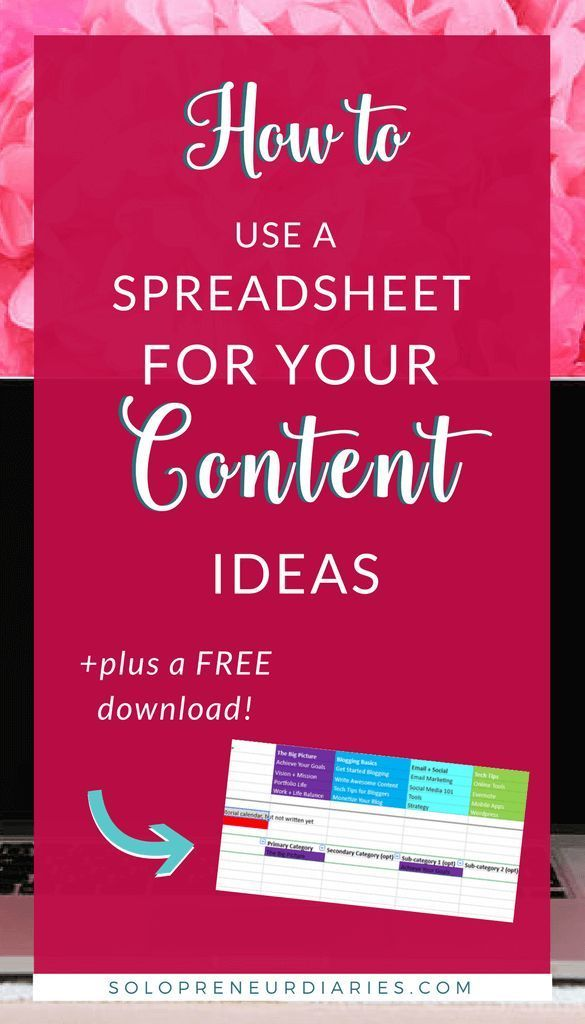 How to Use a Spreadsheet for Your Content Ideas Content and Blogging