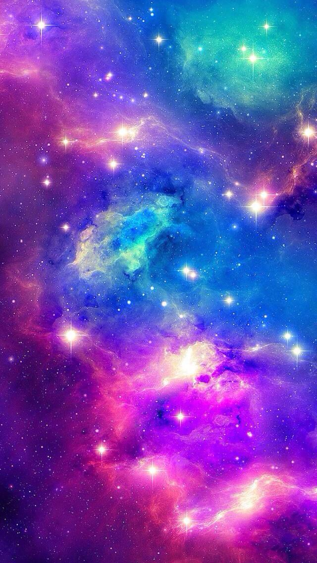 Cool Blue And Purple Galaxy Background Love This Because It S Like I M In Space Iphone De Fundo Nebulosas Papeis De Parede Galaxia