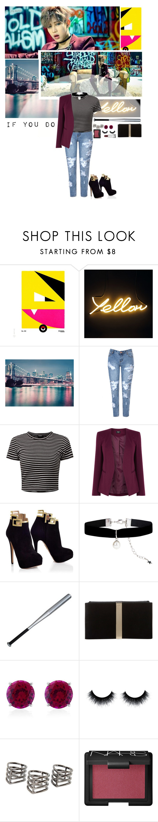 """If you do"" by glitterlovergurl ❤ liked on Polyvore featuring Glamorous, Oasis, Accessorize, Roger Vivier, CARAT*, MANGO and NARS Cosmetics"