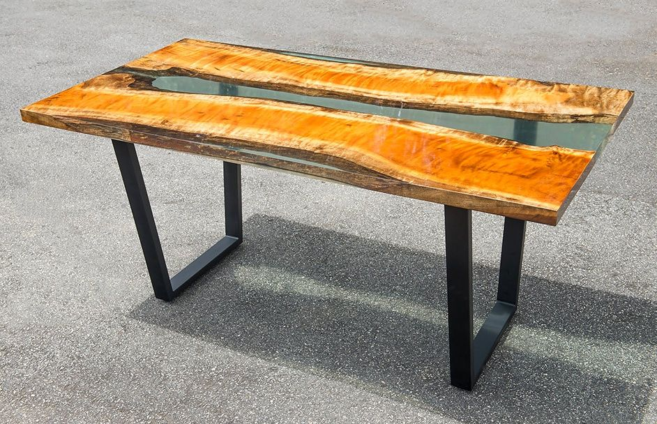 Anleitung Epoxidharz Tisch Aus Holz Selber Machen Harztisch