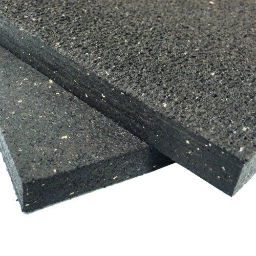 3ft Wide X 4ft Long Black Rubber Floor