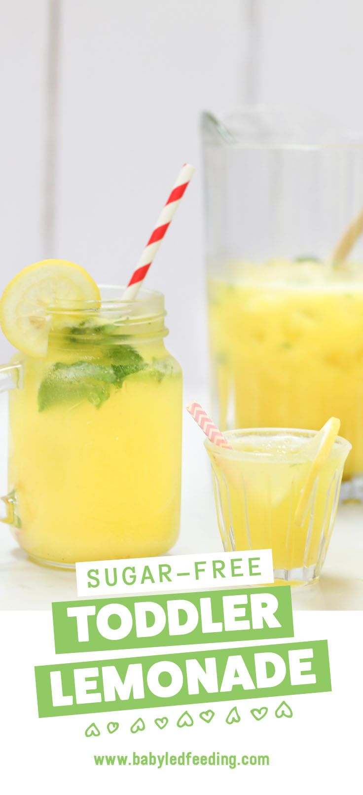 Sugar-Free Lemonade – Toddler Drinks #sugarfreerecipes