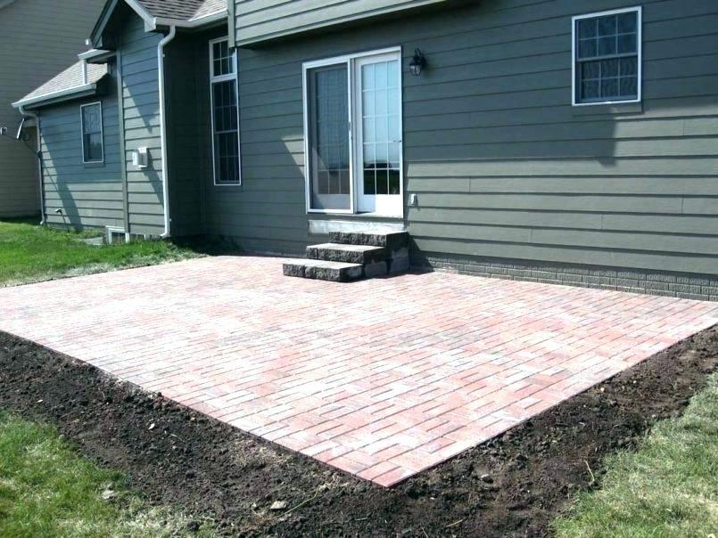 cost for brick patio patio cost brick