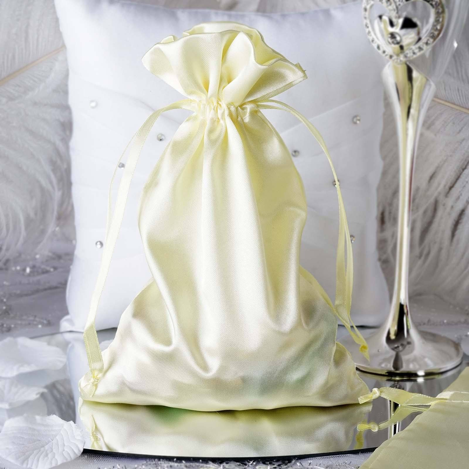 Https Www Efavormart Com Products Pack Of 12 6x9 Yellow Satin Party Favor Bags Drawstring Pouch Gift Bags Variant 2 Satin Bags Fashion Gifts Drawstring Pouch