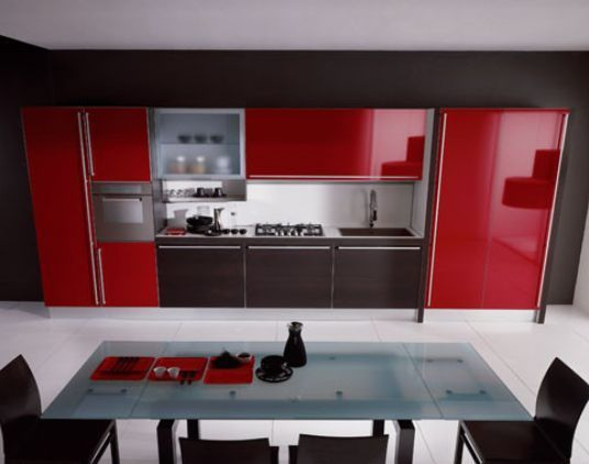 Cocina roja Cocinas Pinterest Red kitchen, Kitchen colors and