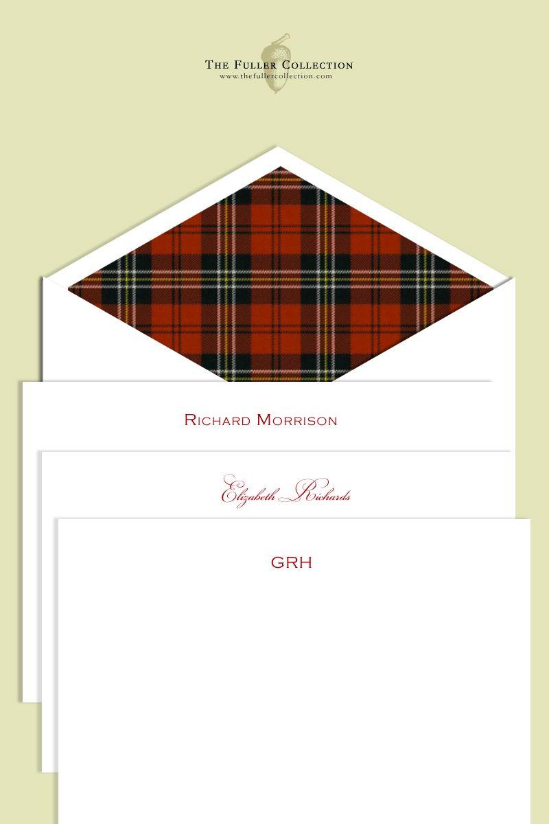 Scottish tartan wedding dress  Custom Stationery by David Fuller efullercollection  Anna