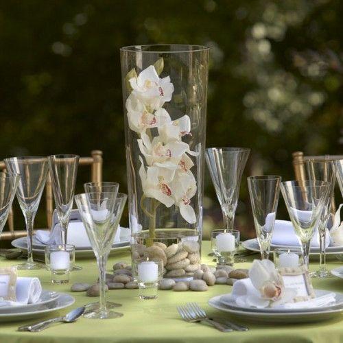Tischdeko Mit Orchideen Glas Vase Staga Hochzeit