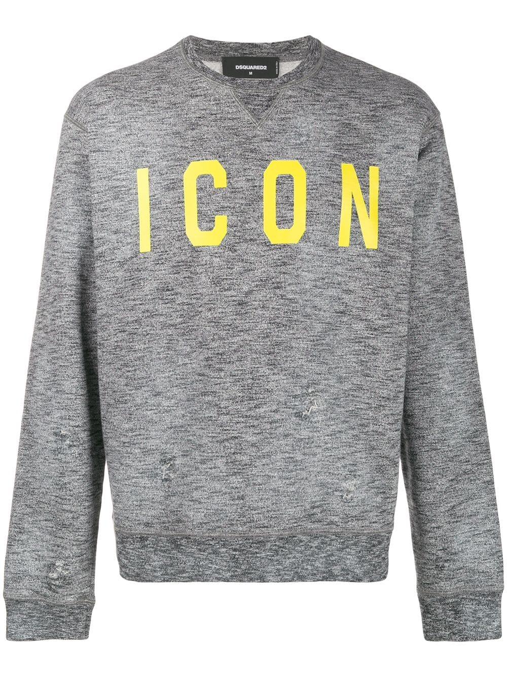 Dsquared2 Dsquared2 Icon Sweatshirt Grey Dsquared2 Cloth [ 1334 x 1000 Pixel ]