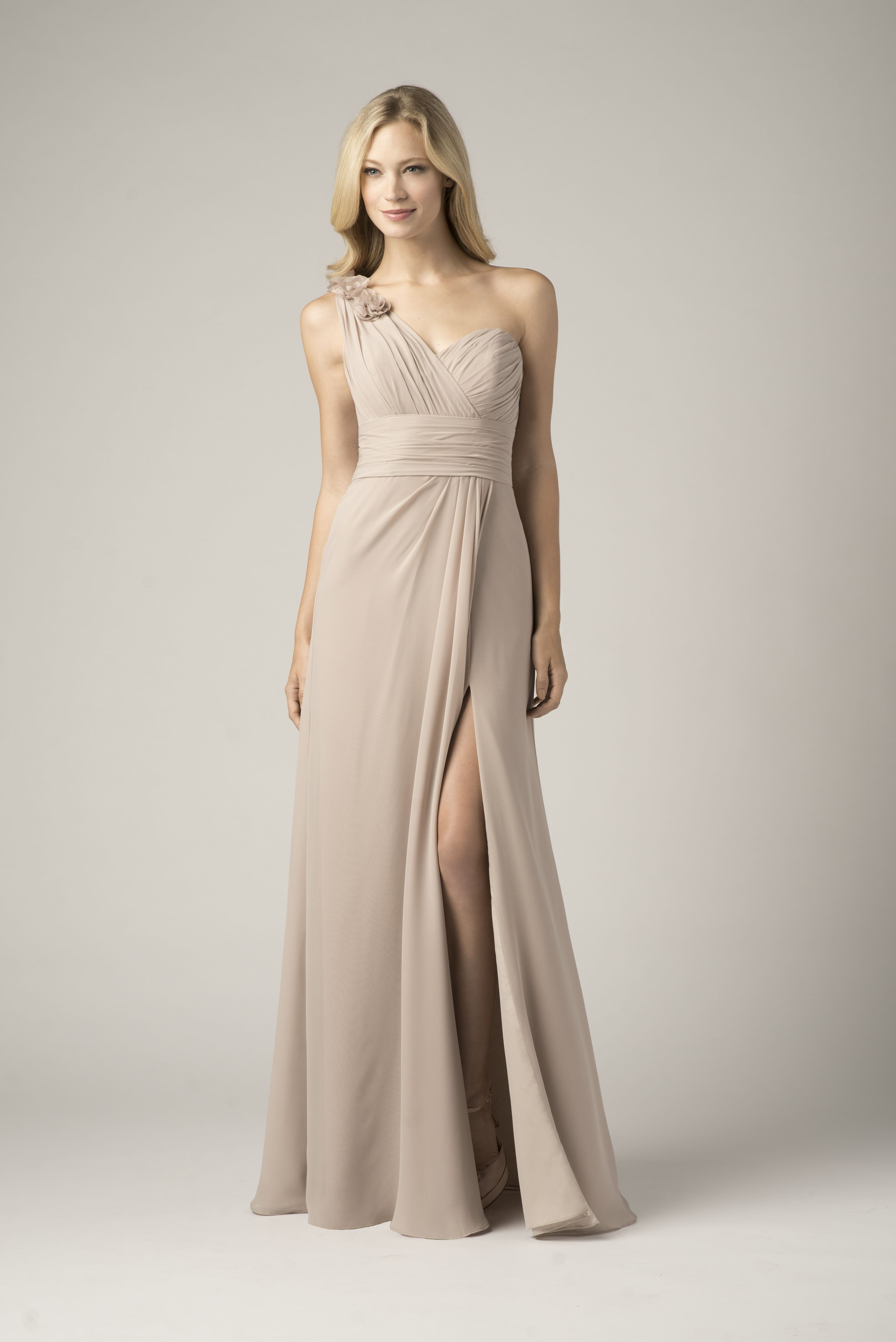 Wtoo Bridesmaid 802 In Mocha Floor Length Chiffon Bridesmaid Dresses Bridesmaid Dresses Long Bridesmaid Dresses