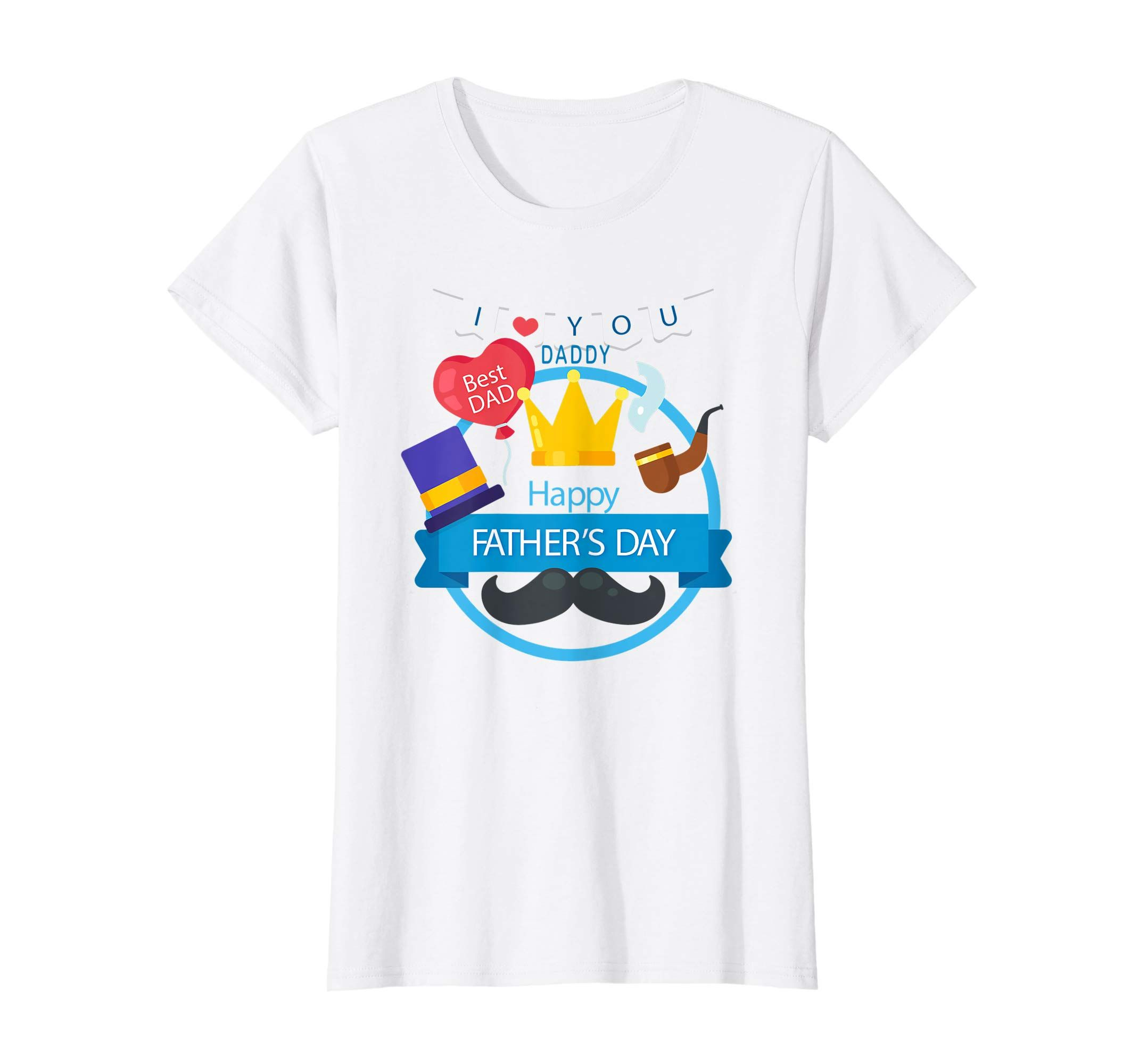 8008936c Amazon.com: I love you daddy T Shirt, Happy Fathers Day Gift Shirt ...
