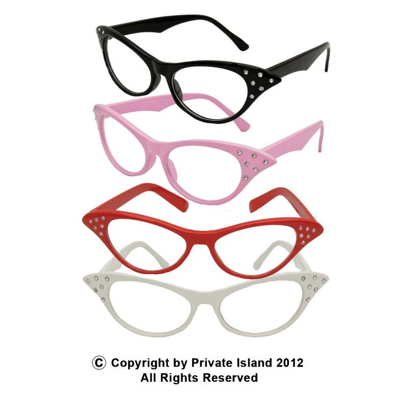 Private Island Party  - DOZEN Cat Eye Glasses With Stones Mixed Colors, $22.20- $24.00   Meow!!! They say all cats have nine lives, but you can have 12!