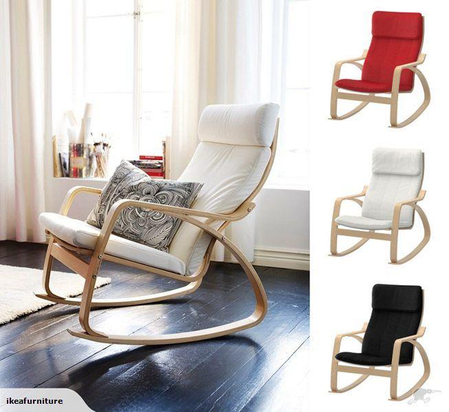 Ikea Poang Rocking Chair Birch Veneer Ikea Rocking Chair Rocking Chair Nursery Ikea Poang Chair