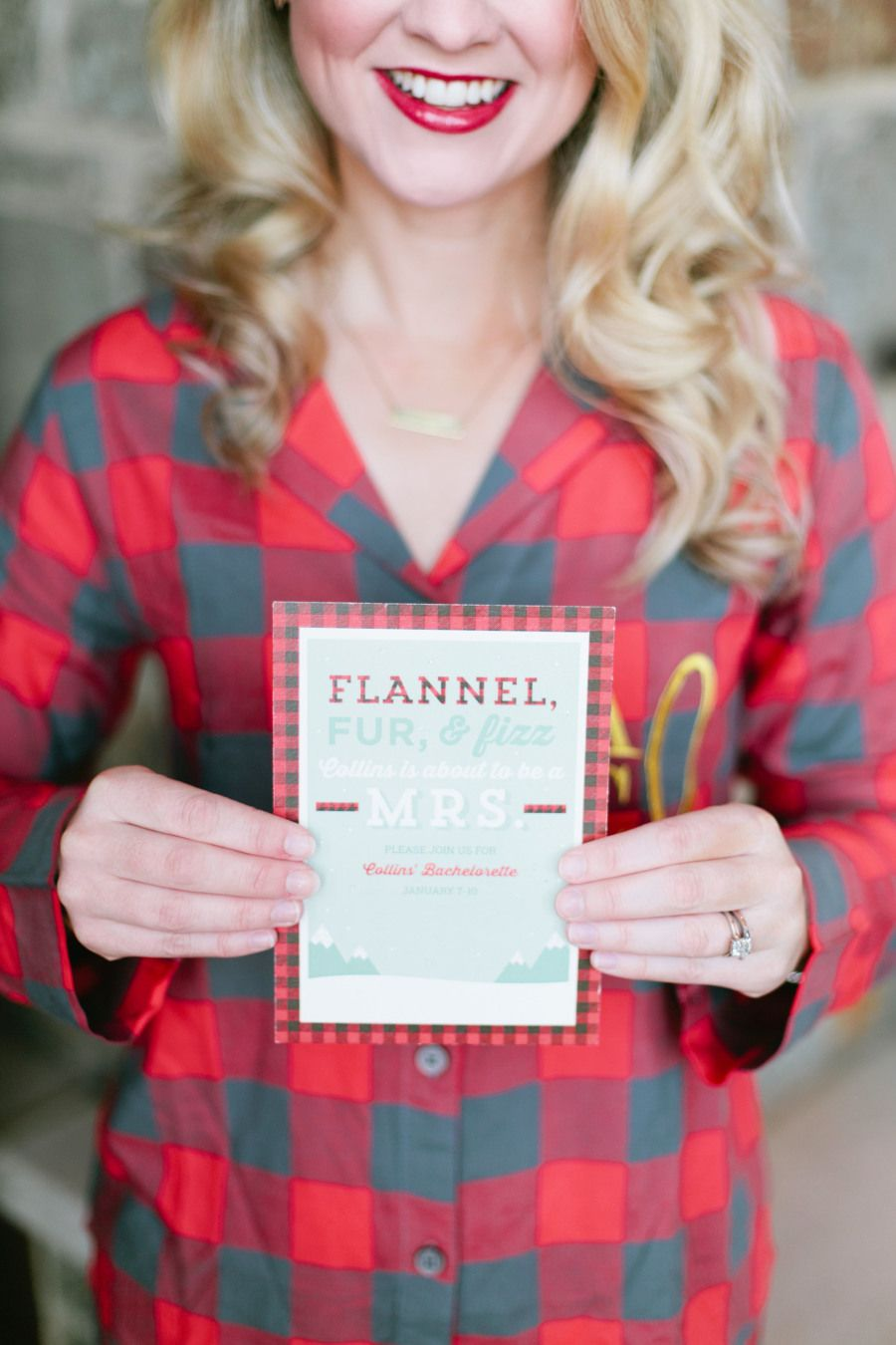 Cozy flannel themed bachelorette weekend in the mountains for Winter bachelorette party ideas