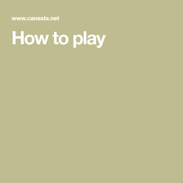 Canasta Rules, Canasta Card Game, Card Games