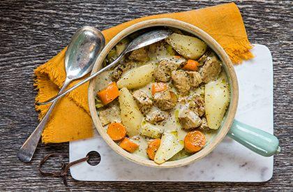 Le mijoté de porc à la moutarde et aux poires, une autre délicieuse façon de savourer le porc du Québec.