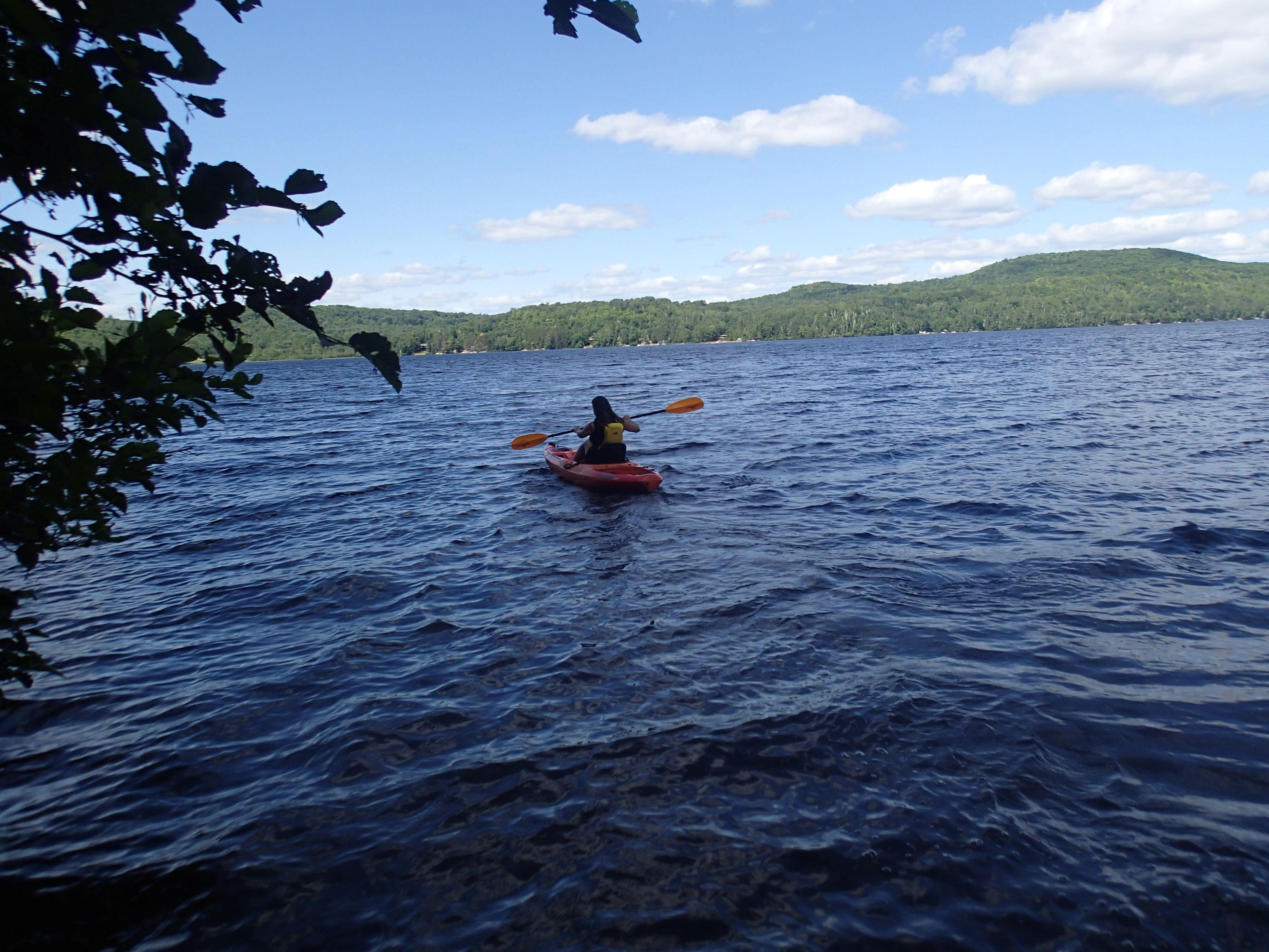 Kayaking on Trout Lake, Nipissing, Ontario
