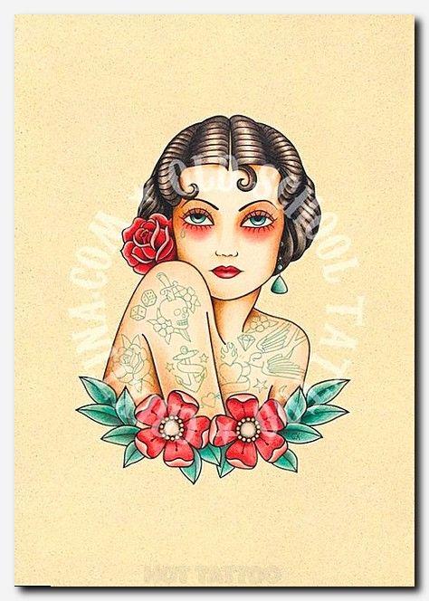 T04 The Tattooed Woman Flash Tattoo Old School Tattoo Art