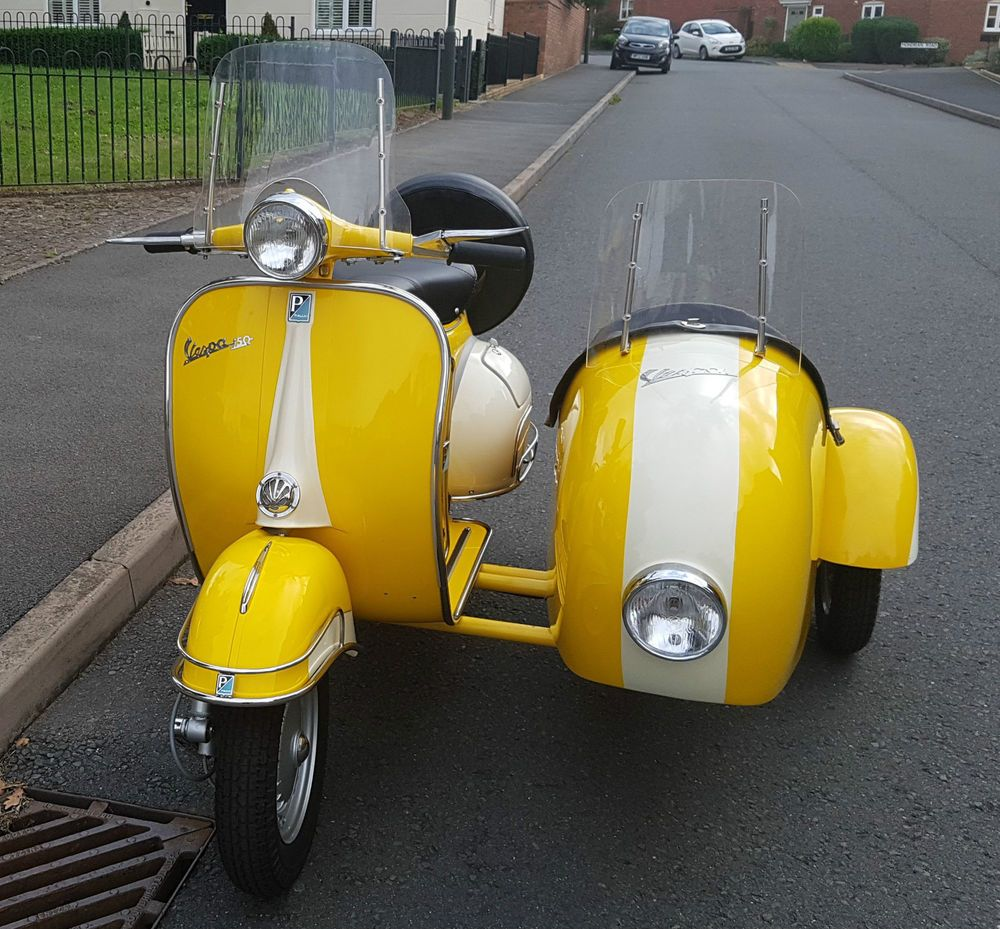 Classic 1961 Vespa Scooter And Sidecar Stunning Fully