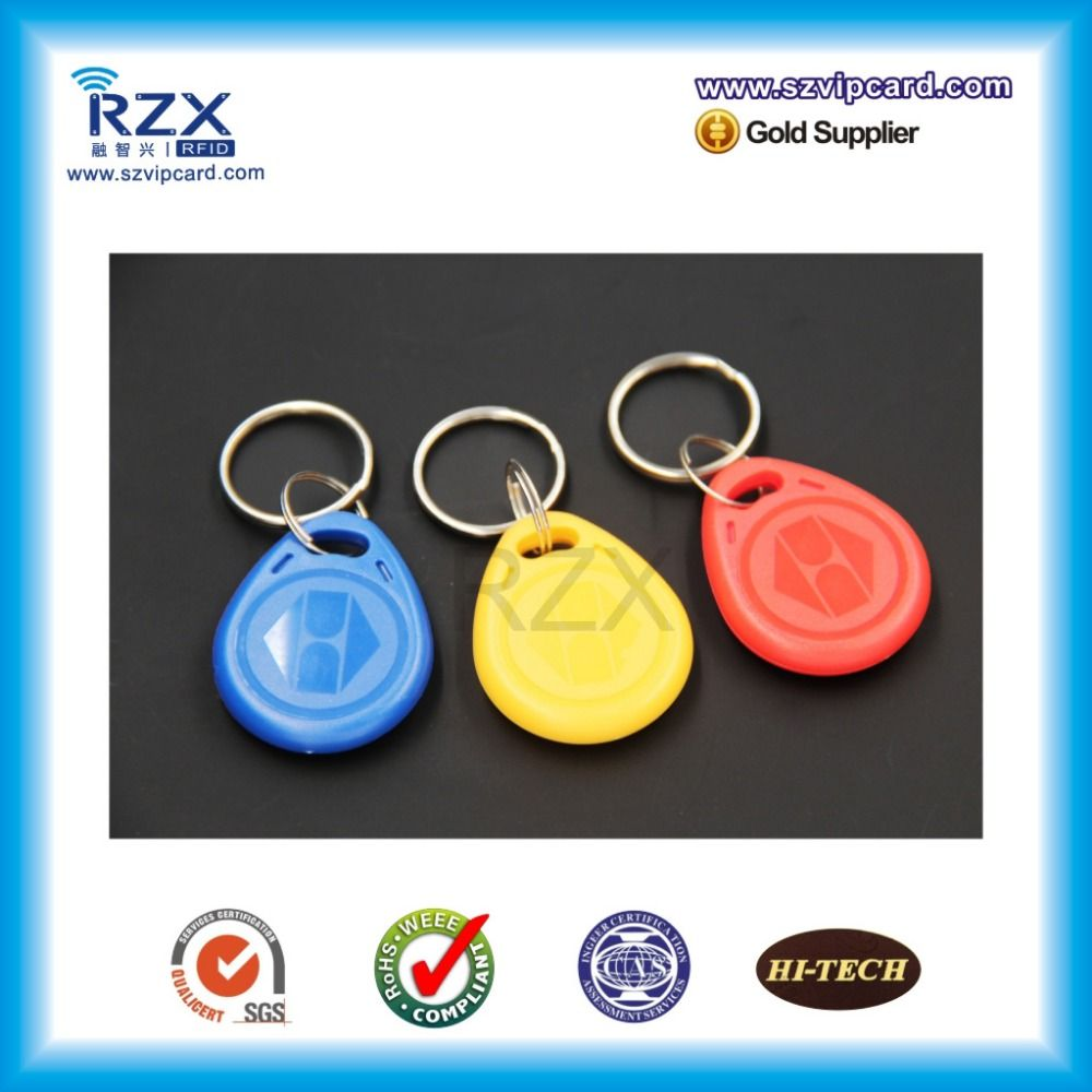 Free samplesfree shipping rfid tag keyfobs 125khz